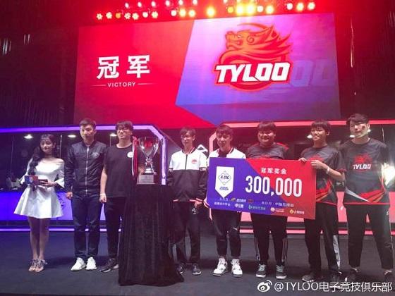 TyLoo 3比0横扫SC,夺得LDL联赛首个冠军!