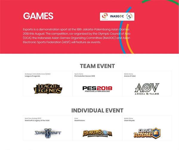 腾讯电竞携英雄联盟、Arena of Valor、皇室战争正式进入雅加达亚运会电子体育表演项目