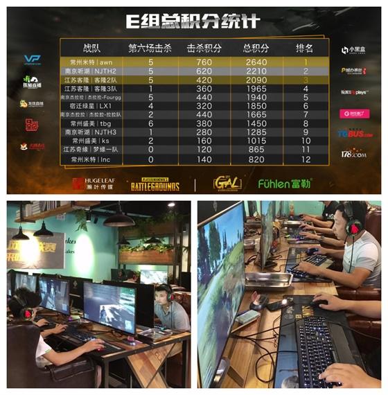 富勒杯GAL PUBG 竞技赛S2区域赛E组awn三次吃鸡E组称王!客隆2队惊险晋级