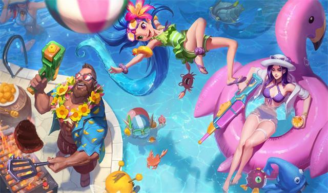 泳装大长腿全安排上!泳池派对系列新皮肤登场!