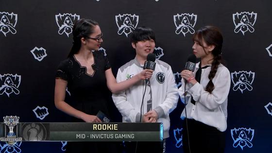 Rookie:新IG在尝试更多的打法,希望能小组出线