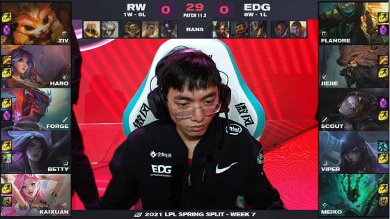 Jiejie岩雀灵性GANK带动节奏,EDG 2-0击败RW