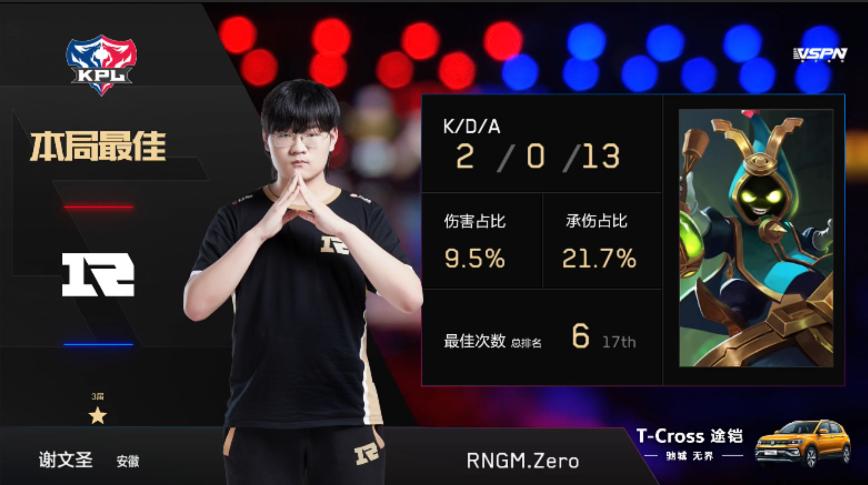 常规赛之王众神归位 RNG.M 3:0 横扫TS